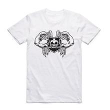 2017 Men Print Street Workout Fashion T-shirt O-Neck Short Sleeves Summer Fitness Bar Brothers Homme T Shirt Streetwear