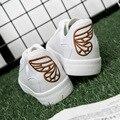 Mulheres Sapatos de Skate de Couro Sapatos Casuais Sapatos de Marca Branca Cesta Femme Formadores Planas Sapatas de Lona Preto Branco