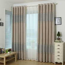 Popangel Factory Direct 100% Polyester Top Modern Minimalist Blackout Living Room Window Curtains Europe Style office