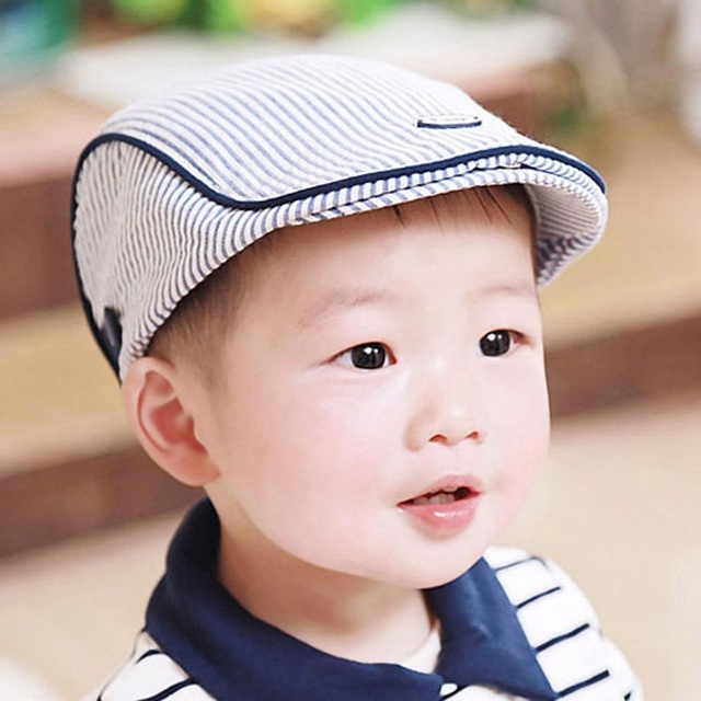6bd7ab2e216 1 pc Fashion Stylish Caps Cute Infant Baseball Cap Baby Hat Stripe Beret  Accessories