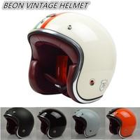 free shipping 2015 BEON men women Personalized motorcycle helmet 3/4 open face vintage Jet retro scooter racing casco ECE Helm
