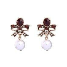 Große Simulierte Perle Schlenker Rot Bogen Ohrringe Aliexpress Online Einkaufen Indien Frauen Vintage Ohrringe