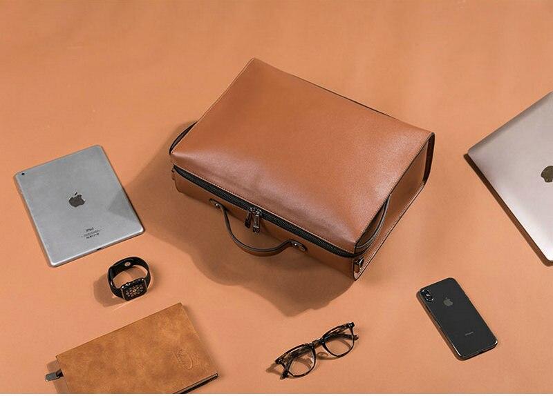 HTB1m52MSH2pK1RjSZFsq6yNlXXa0 YINUO PU Leather Handbag High Capacity Shoulder Bag For 14inch Laptop Bag Briefcase Waterproof Detachable Summer Bag