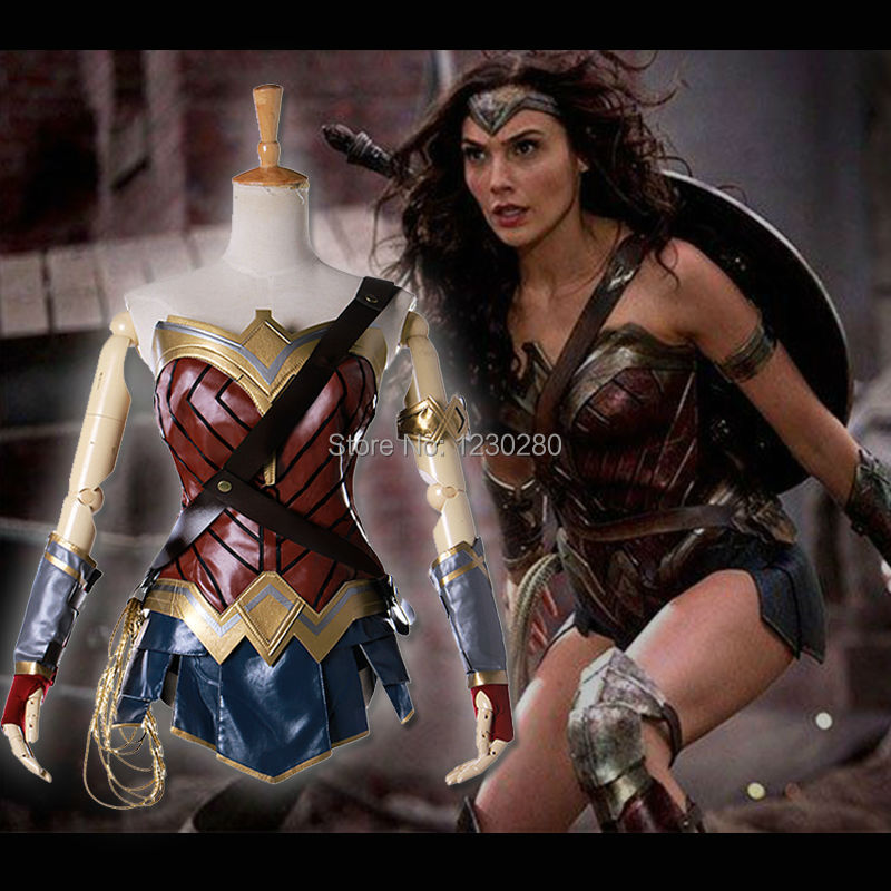 257161df9 2017 New Movie Wonder Woman Costume Diana Princess Cosplay Costume Adult  Superhero Halloween Costume For Women