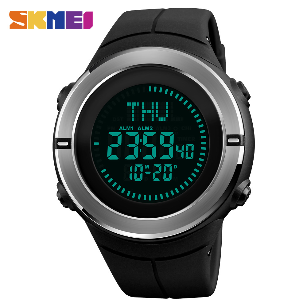 SKMEI Fashion Sports Watches Men Compass Waterproof Outdoor Watch Countdown Chrono Alarm Digital Wristwatches Relogio Masculino skmei sports watches men outdoor shock chrono military watch dual time waterproof led digital wristwatches relogio masculino