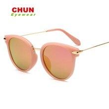 CHUN Mujeres gafas de Sol Polarizadas Diseñador de la Marca de Conducción gafas de Sol Del ojo de Gato gafas Redondas gafas de sol de Diseñador de la Marca gafas de sol mujer + caja L37