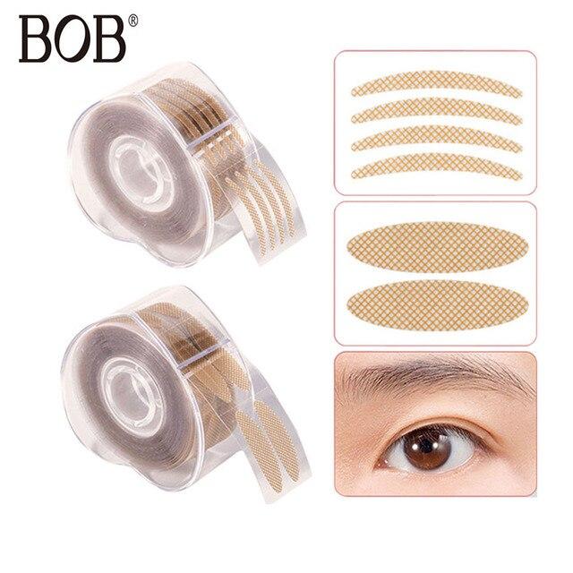 BOB marca 600 piezas de maquillaje de pasta de párpados Beige herramientas de decoración Invisible doble cinta adhesiva pegatinas ojos cosméticos