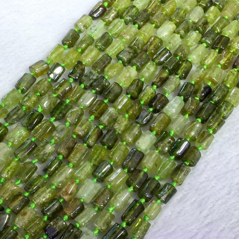 Natural Genuine Green Garnet Tsavorite Demantoid Nugget Free Form Loose Smooth Beads 6-8mm 05387