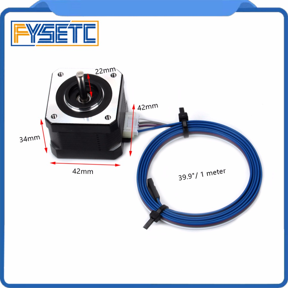 2pcs Nema 17 Stepper 34 Motor 1.8 Stepper Angle 1.5A 2 Phase Body 4-Lead With Cable For 3D Printer Extruder Prusa I3 MK3