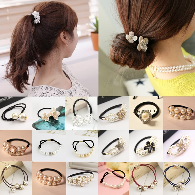 Fashion Women Girls Lovely Hot Elastic Hair Rope Korean Style Headwear Hair Accessories 16 Styles