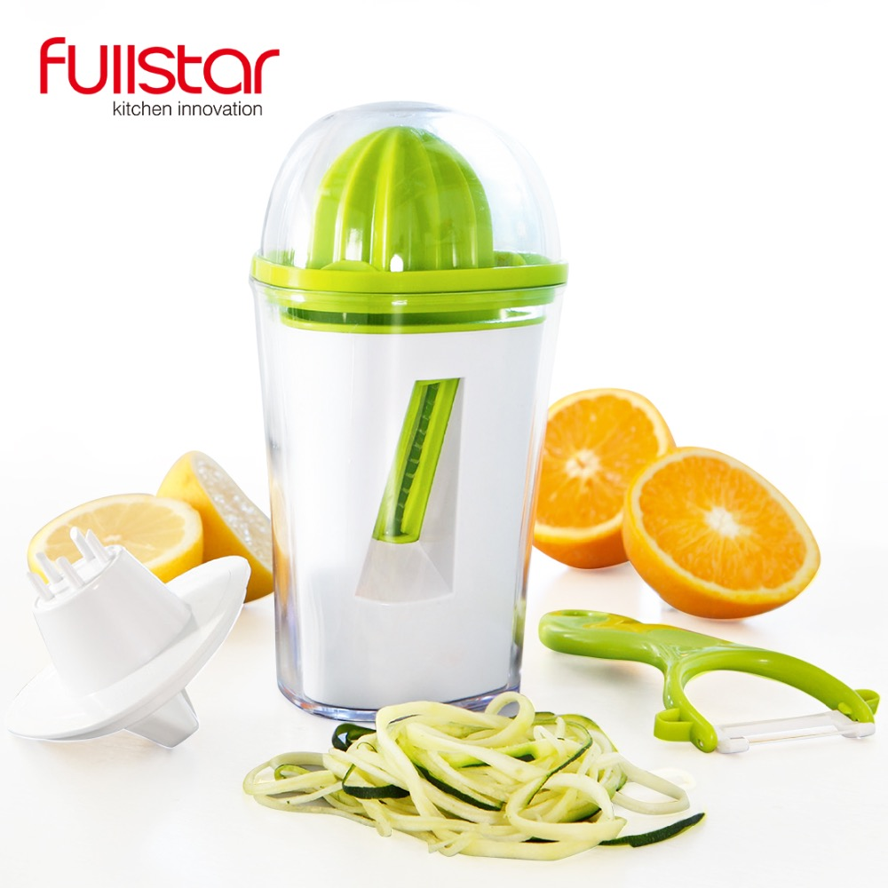 3 IN 1 kitchen accessories Spiralizer/Juicer/Peeler Vegetable, Potato Peeler Juicer Hand Lemon Citrus kitchen tool