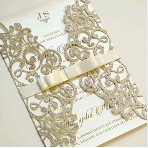 1pcs Sample Wedding Invitations Laser Cutting Invitation