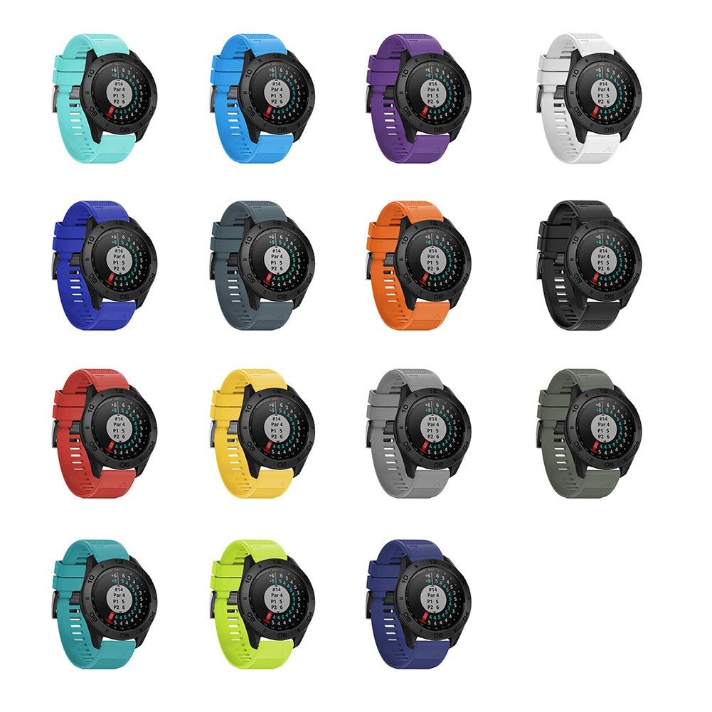22mm Morbida Fascia Cinturino Di Ricambio Smart Watch Strap Bracciale Smartwatch Per Garmin Fenix 5 Forerunner 935 Approccio S60 GDeals