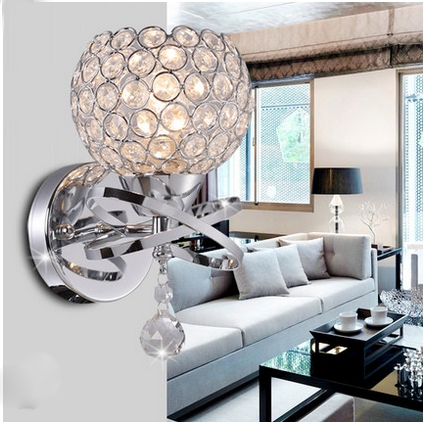 Crystal wall lamp bedside lamp bedroom hallway stairs dining room minimalist modern creative lamp lighting free shipping
