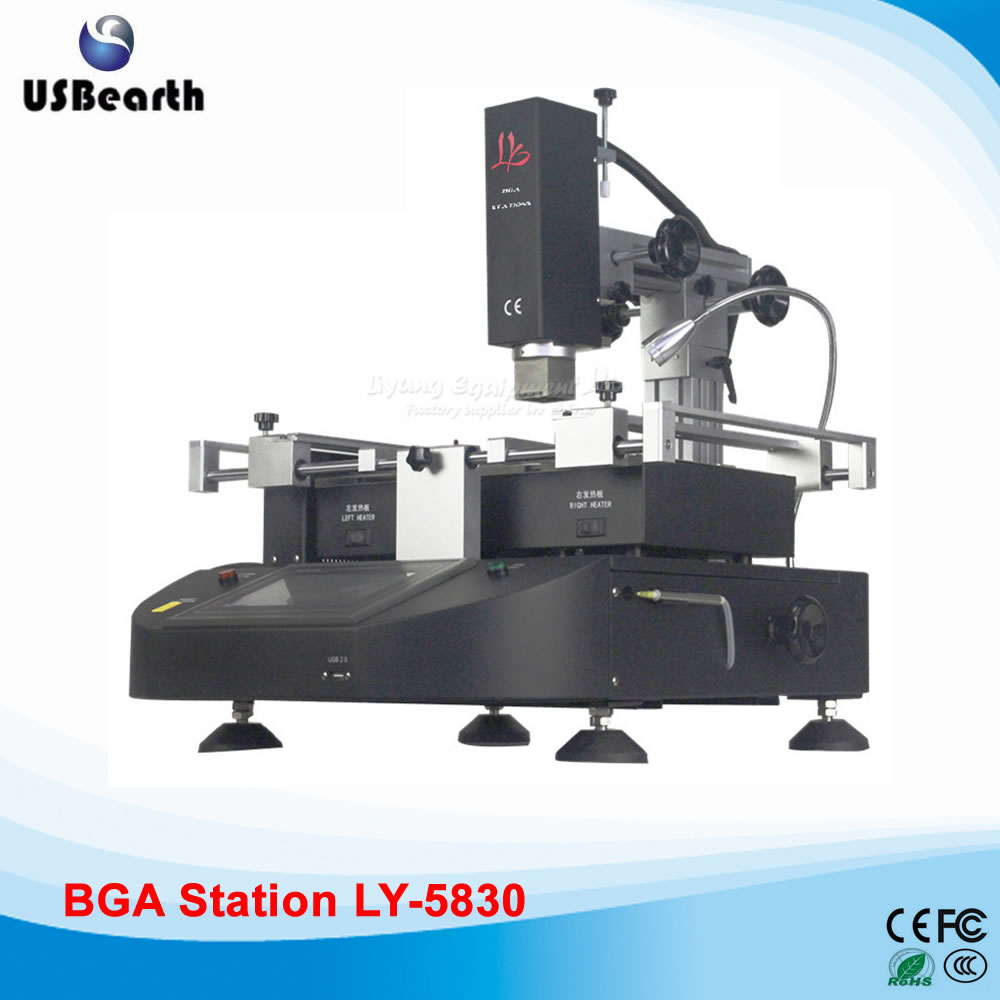 LY-5830 touch screen BGA Soldering Station hot air 3 zones Welding Mahine for Laptop Motherboard Chip Repair,Free tax to Russia