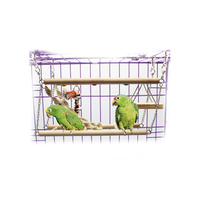 Petacc Bird Ladder Wooded Parrot Swing Toy Bird Hanging Toy For Parrots Parakeets Cockatiels Conures And