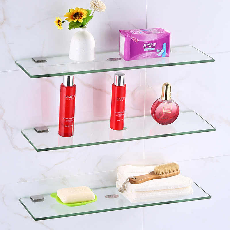 Bathroom Furniture Rack Toilet Mirror In Front Of The Glass Shelf Single Layer Double Layer Three Layer Aliexpress