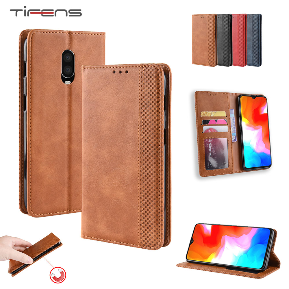 Leather <font><b>Flip</b></font> Wallet Phone Case For <font><b>Oneplus</b></font> 7 7T Pro 6 6T 5 5T 3 3T 1+6 1+5 1+5t Strong Magnetic Card Holder <font><b>Cover</b></font> Etui Carcasa image