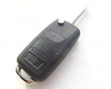 3 Кнопки Складные Дистанционного Флип Ключ Чехол fob Для VW Volkswagen Golf Passat Polo Бора