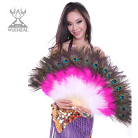 Free shipping, Belly dance fan for women/female/girl/lady, new costume dancing accessories performance props peacock feather fan