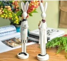 American retro resin chef couple rabbit creative decoration home gift