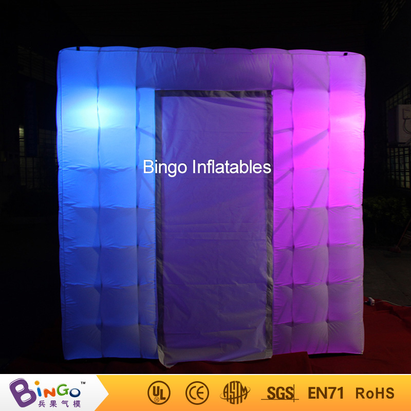 Hot sale 8*8*8ft square photo booth tent with LED light for party, event, wedding outdoor toy 8