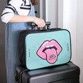 Novedades Mujer Diseñador Equipaje de Mano bolsa de lona Del Viaje Del Equipaje de Gran capacidad de hombro plegable bolsa Plegable bolsa