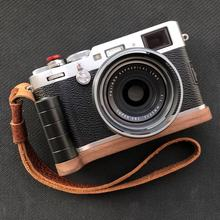 Walnut Wooden Wood Hand Grip Plate Bracket with PU60 Quick Release Plate For FUJI X100F FUJIFILM X 100F(China)