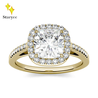 Certified Charles Colvard Moissanite Ring For Women VVS DEF 1.10CT 18K Solid Yellow Gold Lab Diamond Wedding Engagement Jewelry