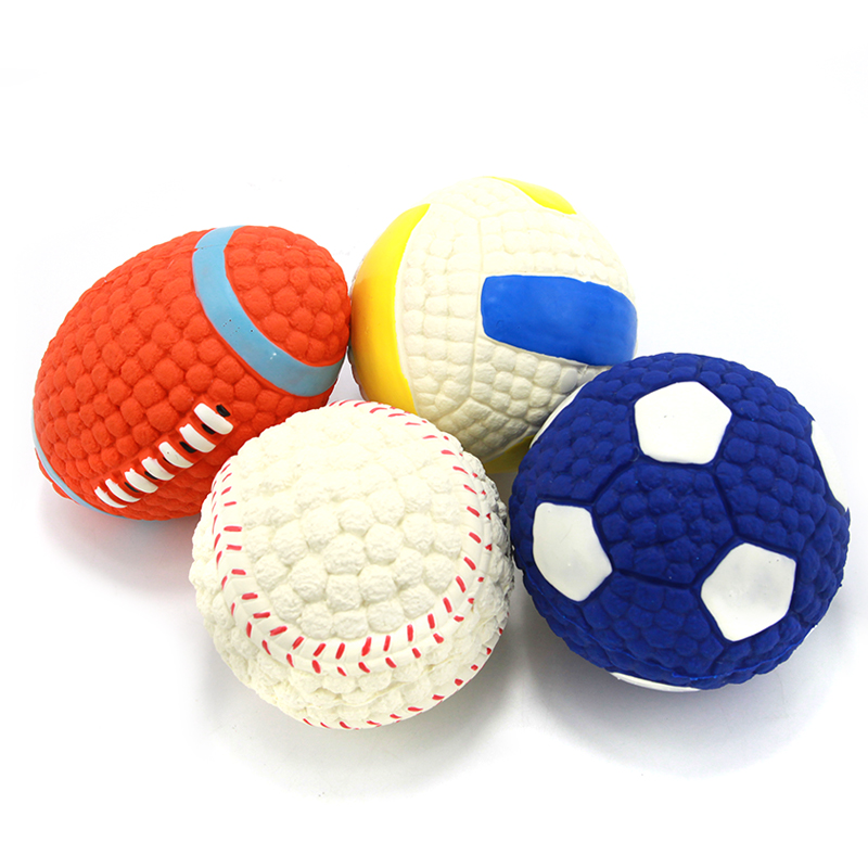 Adidog Dog Pet Rubber Pinball Balls Toy For Small Dogs Interactive Volleyball Puppys Chew Play Toys Cachorro Pet Supplies 104