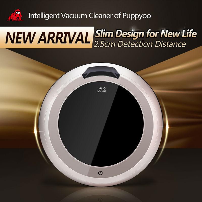 PUPPYOO Multifunktionale Intelligente Roboter-staubsauger Selbstlade Haushaltsgeräte Vakuum Fernbedienung Seitenbürste V-M611