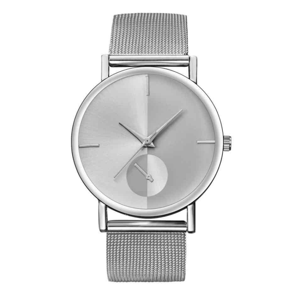 Relogio feminino zegarek kwarcowy kobiety zegarki siatka ze stali nierdzewnej pasek Wrist watch moda klasyczne złote zegarki kwarcowe dla kobiet