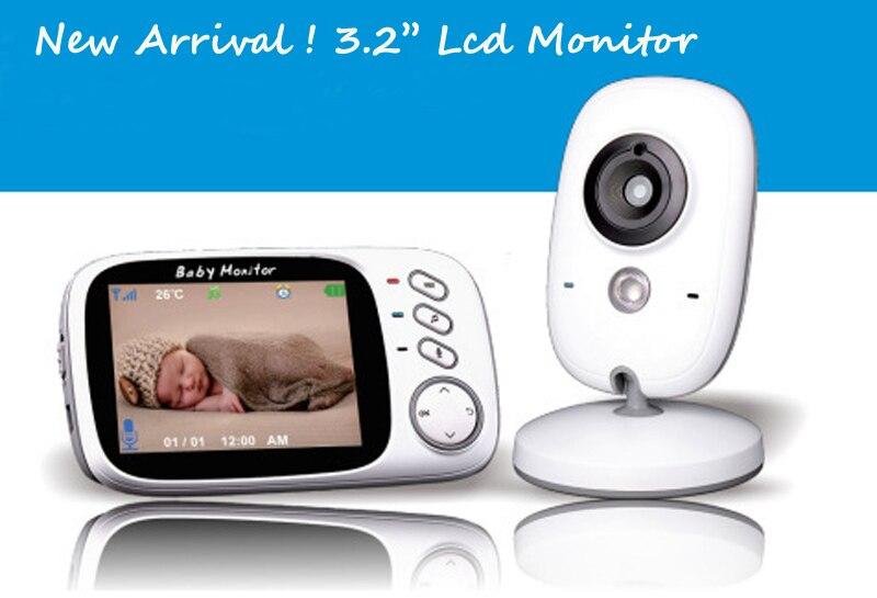 bilder für 2,4 Ghz Wireless 3,2 Zoll Electronica Drahtlose VB603 Baby Monitor 2 Way Audio 5 Mt IR Temperatur Lullabies Tragbare Baby kamera