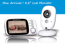Hot 2.4Ghz Wireless 3.2 inch Electronica Wireless Baby Monitor 2 Way Audio 5M IR Temperature Lullabies Portable Baby Camera