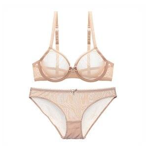 Image 3 - Varsbaby جديد رقيقة جدا شبكة الدانتيل مثير الملابس الداخلية النساء شفافة جمع البرازيلي مجموعات