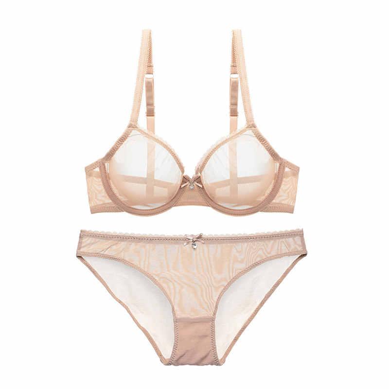 Varsbaby Новое ультра-тонкое Сетчатое кружевное сексуальное женское белье, комплекты прозрачных бюстгальтеров