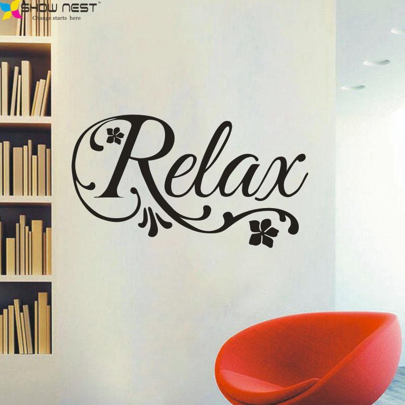 Buy relax swirls flower decal art vinyl for Stickers design salon