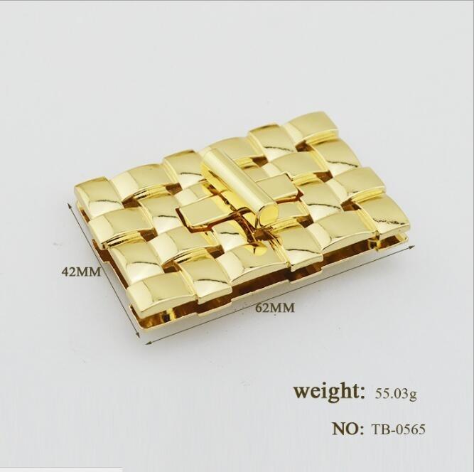 (10 pieces/lot) wholesale bags handbag high-grade metal braided rope shape twist lock decorative buckle hardware accessories Y-5