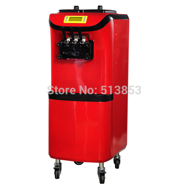 Big volume two and one twisted 36L ice cream machine soft ice cream vendor arc front panel design air circulation from bottom