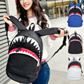 2017 Fashion Big Mouth Shark Backpack College Student School Backpack Bags for Teenagers Mochila Casual Girls Travel Daypack