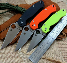 Hot selling C81 folding knife Copper washers D2 steel blade knife G10 Handle Camping Hunting Outdoor Tool Survival Knives