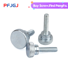 Peng Fa M3M4-M8package post iron blue-white-zinc high head knurling screw GB834 step double-layer hand
