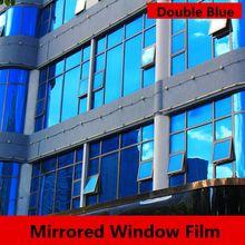 1.52x30 m Tek Yönlü Ayna Gizlilik Pencere Filmler Koyu Mavi Yansıtıcı Yan Engelleme Güneş Güneş Tonu Cam Filmi kendinden yapışka...