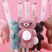 Cute Kawaii Rilakkuma Gel Pen Bear Pendant Neutral for Writing Black Ink 0.5mm Novelty Gifts Stationery Office School Supply