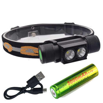 LED USB XML 2x L2 Headlight Waterproof Head Flashlight Torch Portable LED Head Lamp 18650 Rechargeable Outdoor Light Camping - Category 🛒 Lights & Lighting