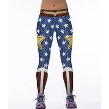Женские леггинсы, спортивные, чудо-женщины, косплей, с принтом, эластичные, высокая талия, штаны для спортзала, для йоги, быстросохнущие, для фитнеса, трико, брюки для бега
