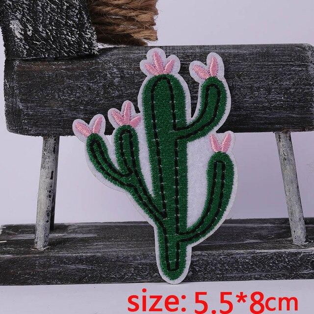 2016 год новое поступление 1 шт. Цветок кактуса Утюг на вышитые патч для ткань мультфильм значок одежды Аппликации поделки аксессуар