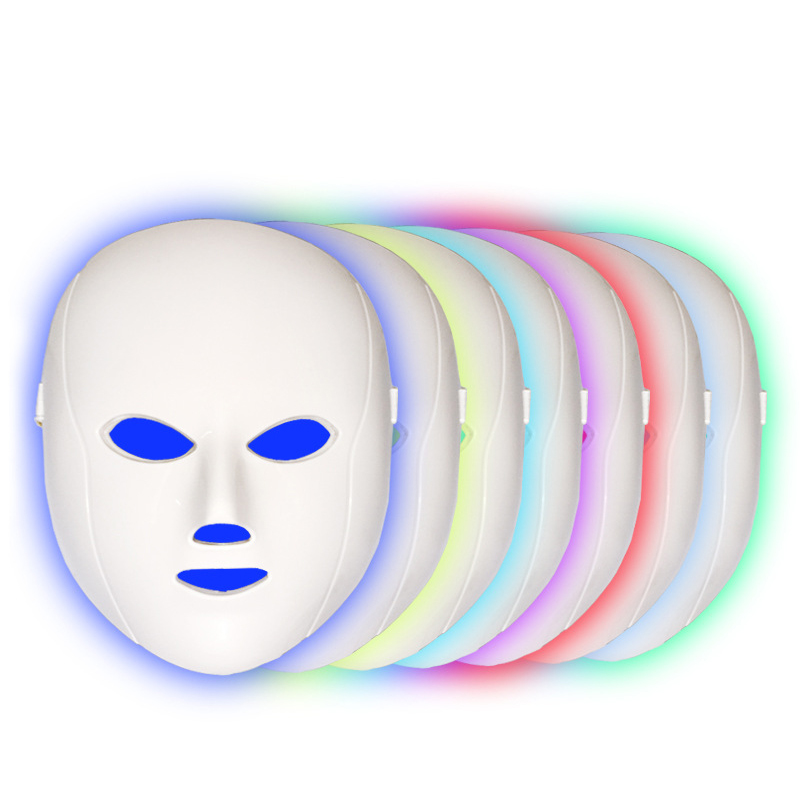 7 Color LED Mask For Face Neck EMS Micro current Anti Wrinkle Acne Removal Neck Skin Rejuvenation Korean Photon Therapy Machine