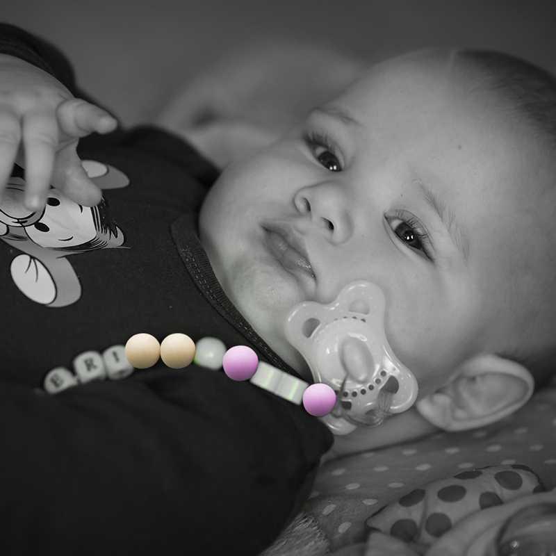 2 шт. круглый пищевой силиконовый бисер ребенок прорезывание зубов бусины для ожерелья детский Прорезыватель своими руками пустышка цепь
