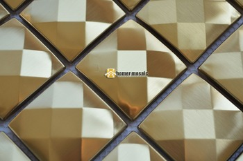 Backsplash Fliesen Aus Edelstahl | 13 Gesicht Diamant 3D Edelstahl Metall Mosaik Moder Wohnzimmer Küche Backsplash Badezimmer Dusche Metall Fliesen KOSTENLOSER VERSAND
